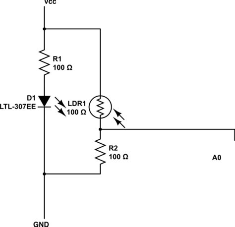 photoresistor schematic arduino best way to lify the photoresistor signal electrical engineering stack exchange