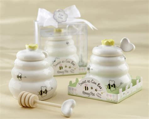 Honey Pot Favors Baby Shower by Sweet As Can Bee Honey Pot With Wooden Dipper