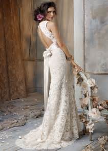 wedding dress lace open back ivory lace wedding dress with open backcherry cherry