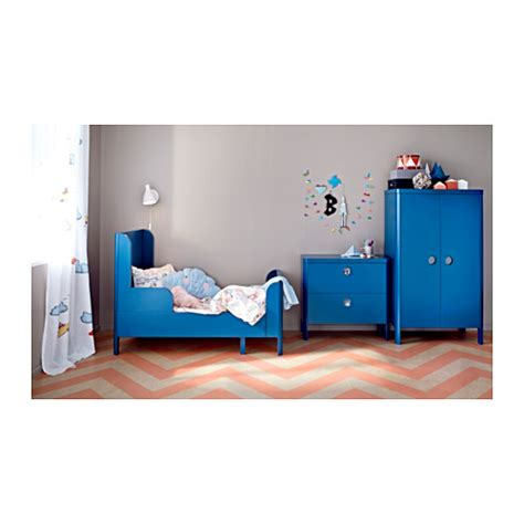 ikea child bed busunge extendable bed medium blue 80x200 cm ikea