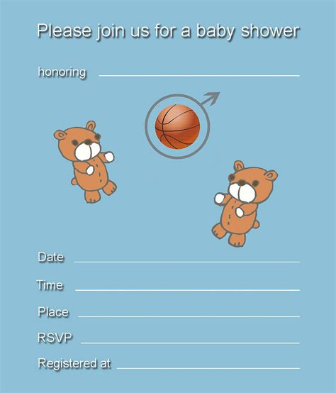 template blank elephant baby shower invitations blank