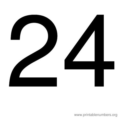 printable numbers 1 24 number 24 images www pixshark com images galleries