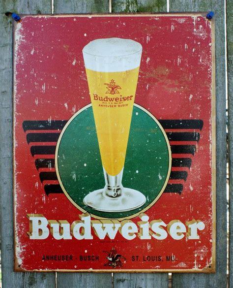 busch light tin sign budweiser anheuser busch tin sign man cave garage bar beer