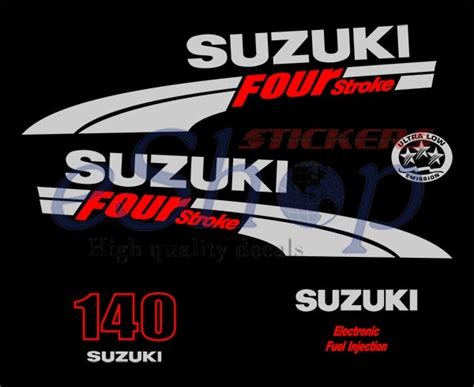 140 Suzuki 4 Stroke Suzuki Outboard Df 140 Hp 4 Four Stroke Decals