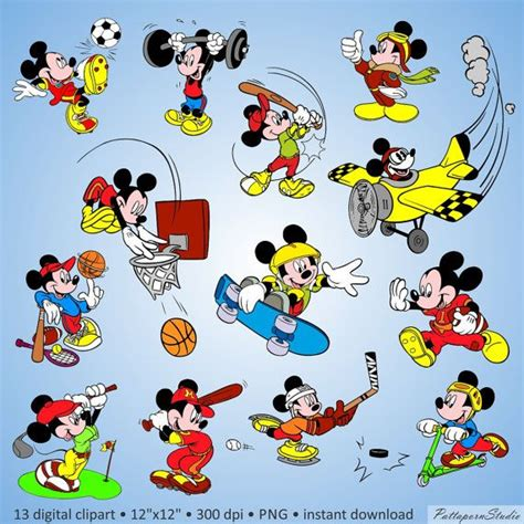 Myu Mickey Buy 2 Get 2 buy 2 get 1 free digital clipart quot mickey mouse sport quot characters disney fantastic