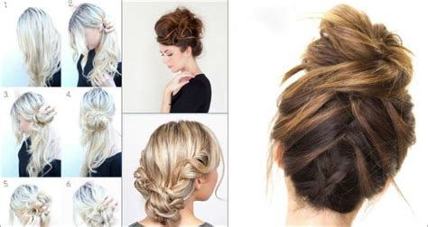 holiday braided updo tutorial medium hairstyle for long hair top 10 messy updo tutorials for different hair lengths
