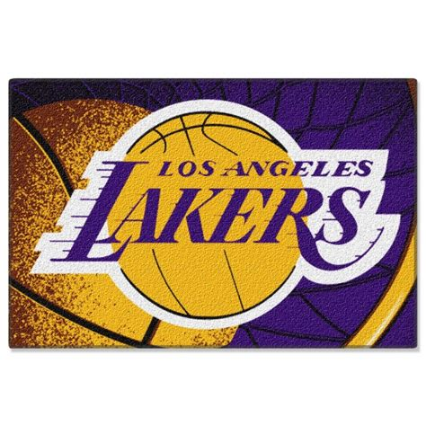 lakers rug los angeles lakers nba 39 quot x 59 quot tufted rug