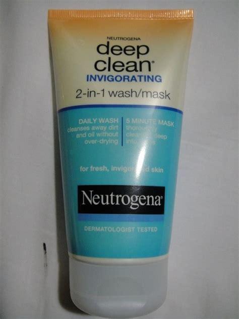 deep clean neutrogena deep clean invigorating 2 in 1 wash mask