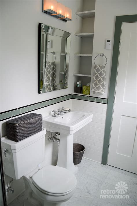 Wall Tile Ideas For Small Bathrooms Amy S 1930s Bathroom Remodel Classic And Elegant Retro