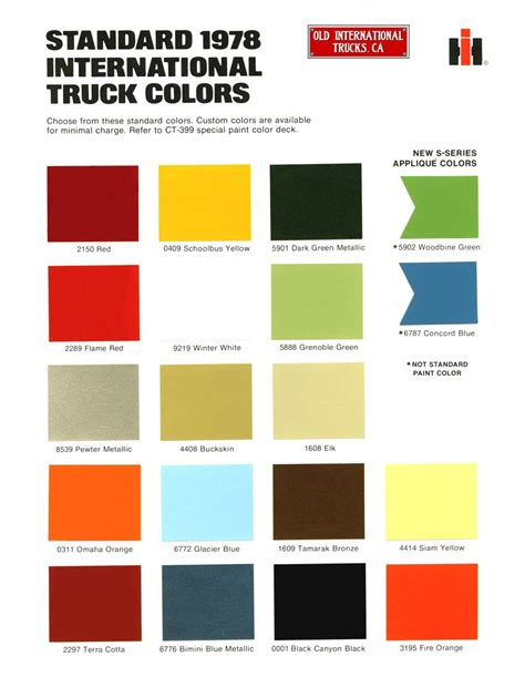 scout colors 1978 international standard truck colors new wheels
