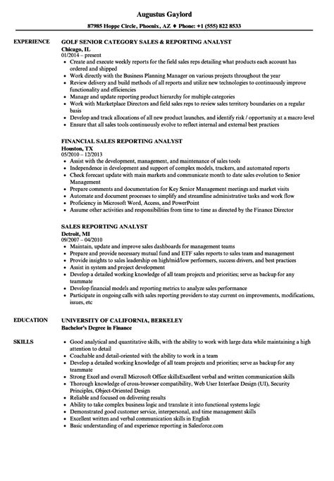 analyst resume sles data reporting analyst resume microsoft word template