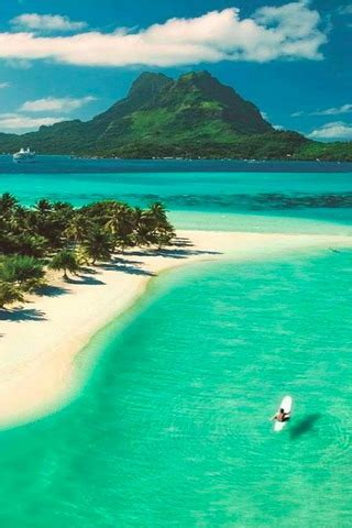 beach  bora bora  french polynesia iphone wallpaper mobile wallpaper mobile toones