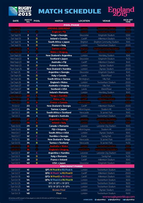 printable calendar rugby world cup 2015 rugby world cup 2015 buccleuch screening buccleuch hotel