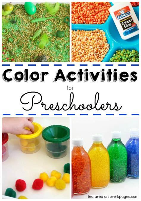 30 Activities To Explore Colors Pre K Pages Colour Activities For Preschoolers