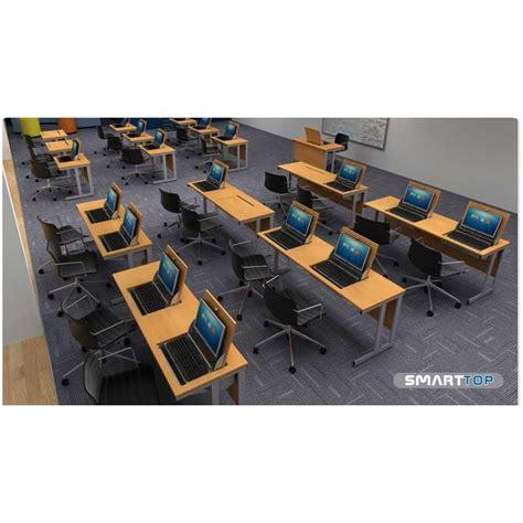 Smart Computer Desk Smart Top Ict Desks Two Person Flip Top Computer Desks