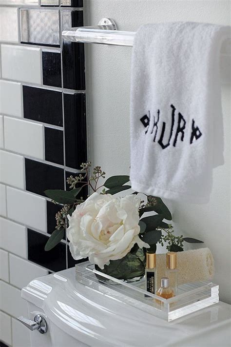 bathroom perspex bathroom styling lucite towel rod tray bathrooms