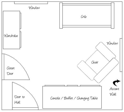 Nursery Layout With Bed | baby room layout ideasnursery news the furniture bower