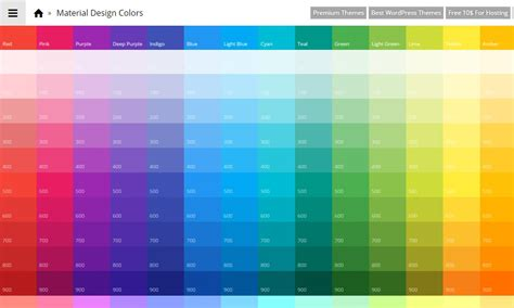 graphic design color palettes 2017 tools for generating material design color palettes 187 css