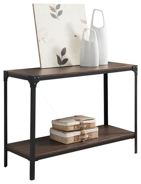 Country Style Entryway Console Sofa Table Antiqued Black Country Style Sofa Table