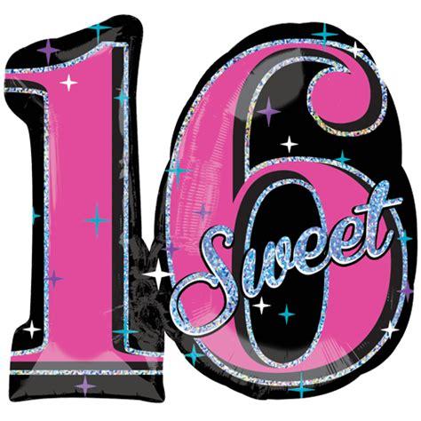 28 sweet 16 sparkle supershape foil balloons 8915 p png
