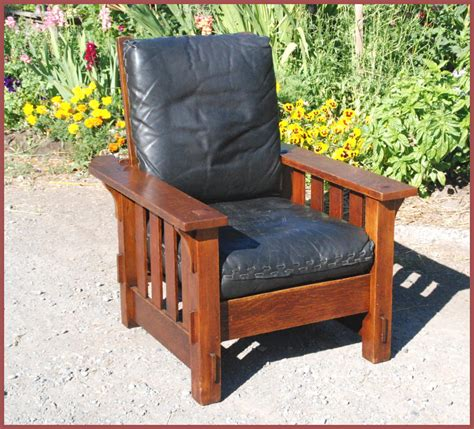 reclining morris chair voorhees craftsman mission oak furniture vintage j m