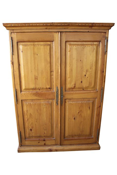 knotty pine armoire kreiss knotty pine wardrobe armoire chairish