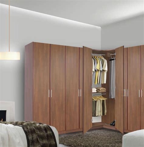 Corner Wardrobe Closet by Corner Wardrobe Corner Closet W Three Hangrods