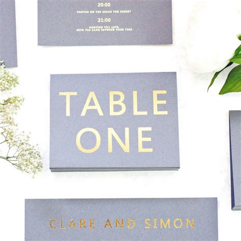 grey and gold desk grey and gold wedding name number free standing by