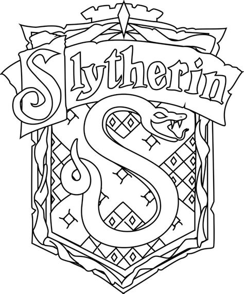 for gt harry potter slytherin coloring pages az coloring