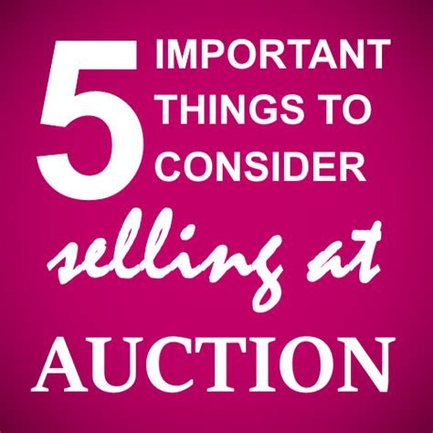 5 Essential Things To Consider 5 Points About Selling A House At Auction