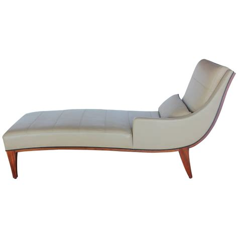 contemporary chaise modern leather chaise lounge by widdicomb for sale at 1stdibs