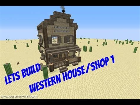 western house tv minecraft lets build western house shop 1 youtube