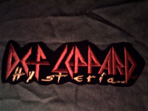 def leppard iron on patch hysteria logo vintage jumbo