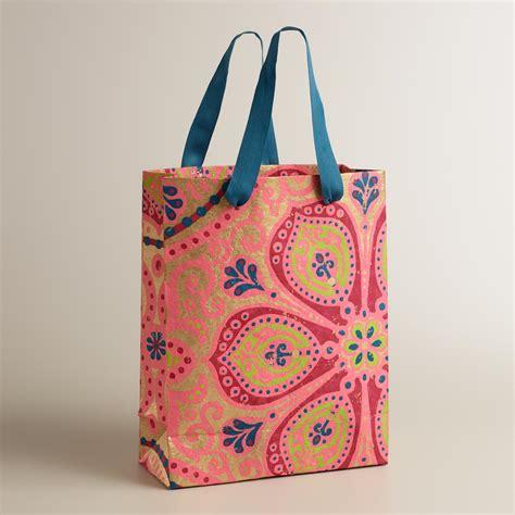 Handmade Gift Bag - large nomad tiles handmade gift bag world market