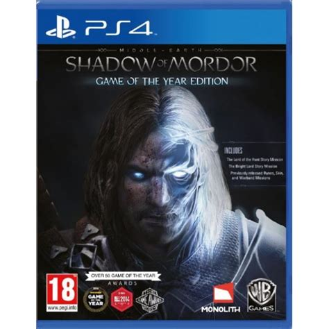 Kaset Gameps4 Middle Earth Shadow Of Mordor Goty Reg 2 middle earth shadow of mordor of the year goty ps4 365games co uk