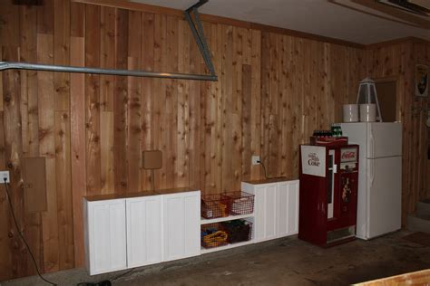 Height Of Upper Kitchen Cabinets cedar planking the garage the cavender diary