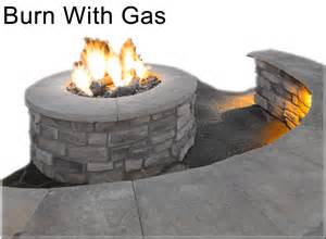 Flat Rock Fire Pit - push button gas fire pit kit