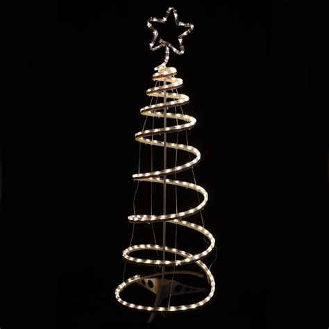 5 foot spiral rope light christmas tree flashing multi warm white spiral tree rope light indoor outdoor 5055354229169 ebay