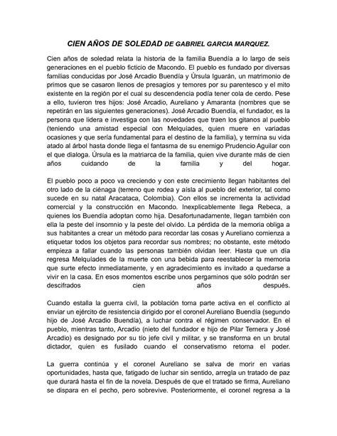 Calaméo - ensayo cien años de soledad de Gabriel Garcia