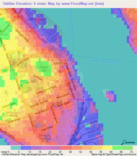 elevation map of usa and canada elevation of halifax canada elevation map topography contour