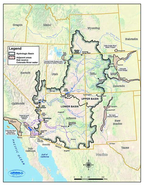 river map maps colorado river basin watersheds transmountain