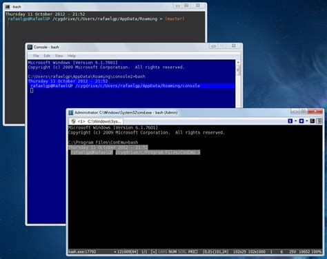console terminal windows 7 terminal console2 and conemu command prompt