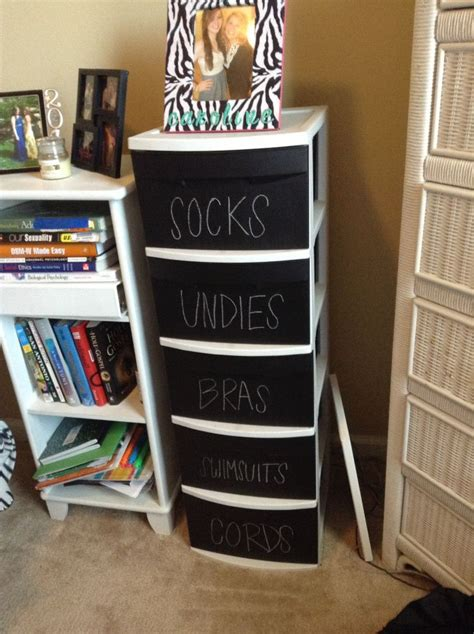 21 funky diy chalkboard paint ideas for the home craft diy chalkboard upgrade to plastic drawers plastic