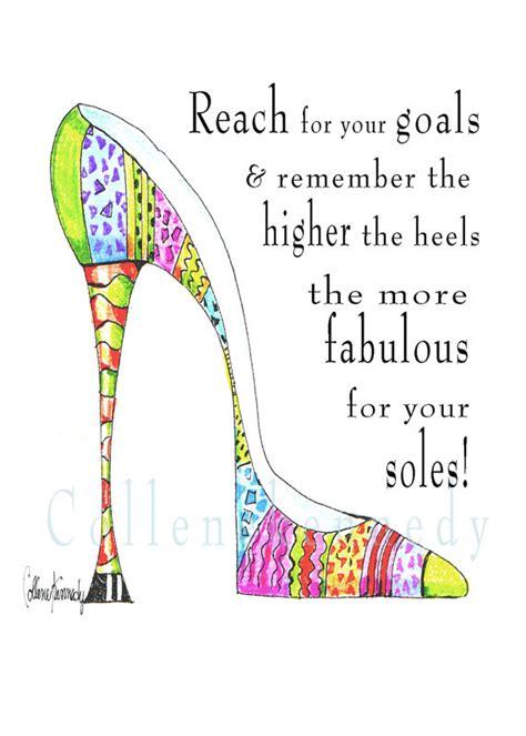 Humm3r Napoleon Black Heels Sole illustrated high heel shoe quote 5x7 print with