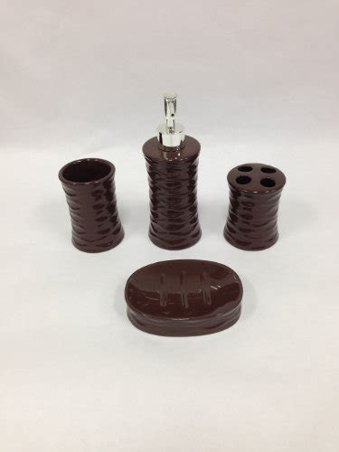 22 Piece Bath Accessory Set Chocolate Brown Bathroom Rug Chocolate Brown Bathroom Accessories