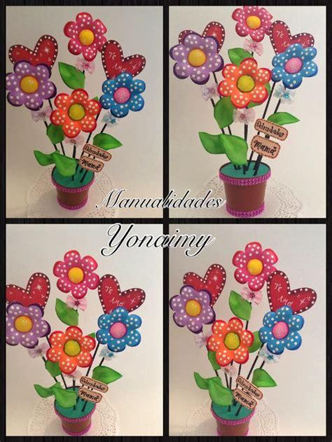 flores de foamy manualidades yonaimy arreglo de flores en maceta hechas