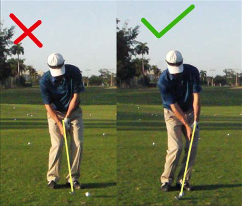 no release golf swing should you actually hit down on the golf ball