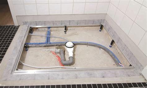 montaggio piatto doccia filo pavimento piatti doccia kaldewei come installare un piatto doccia