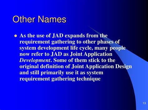 joint application design definition ppt joint application development powerpoint