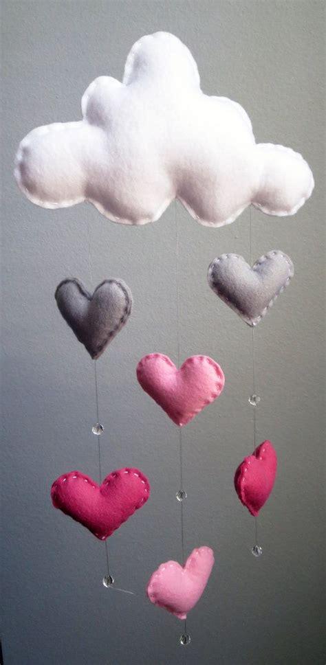 Handmade Nursery Decor Ideas - pink clouds picmia